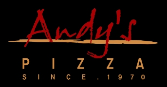 andys pizza on black