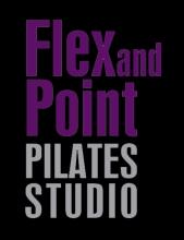 FLEX AND POINT logo white